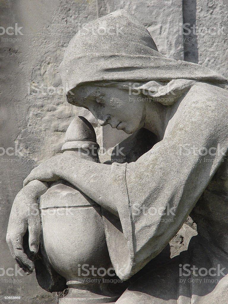 woman statue royalty-free stock photo