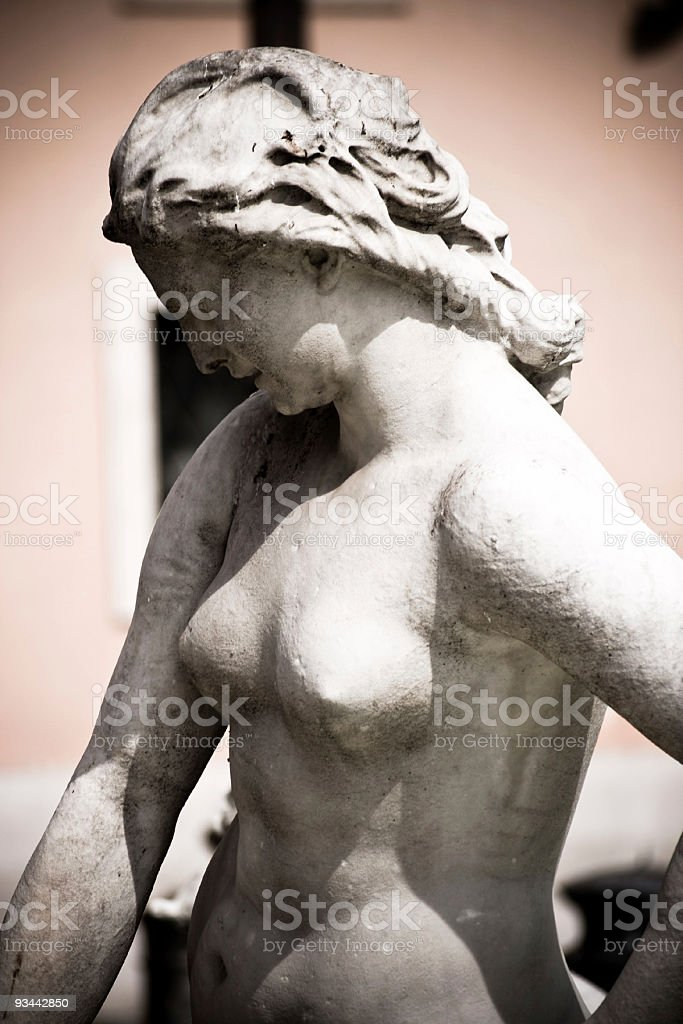 Woman statue royalty-free stock photo