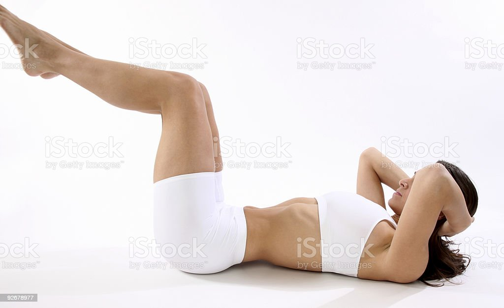 Woman staying fit royalty-free stock photo