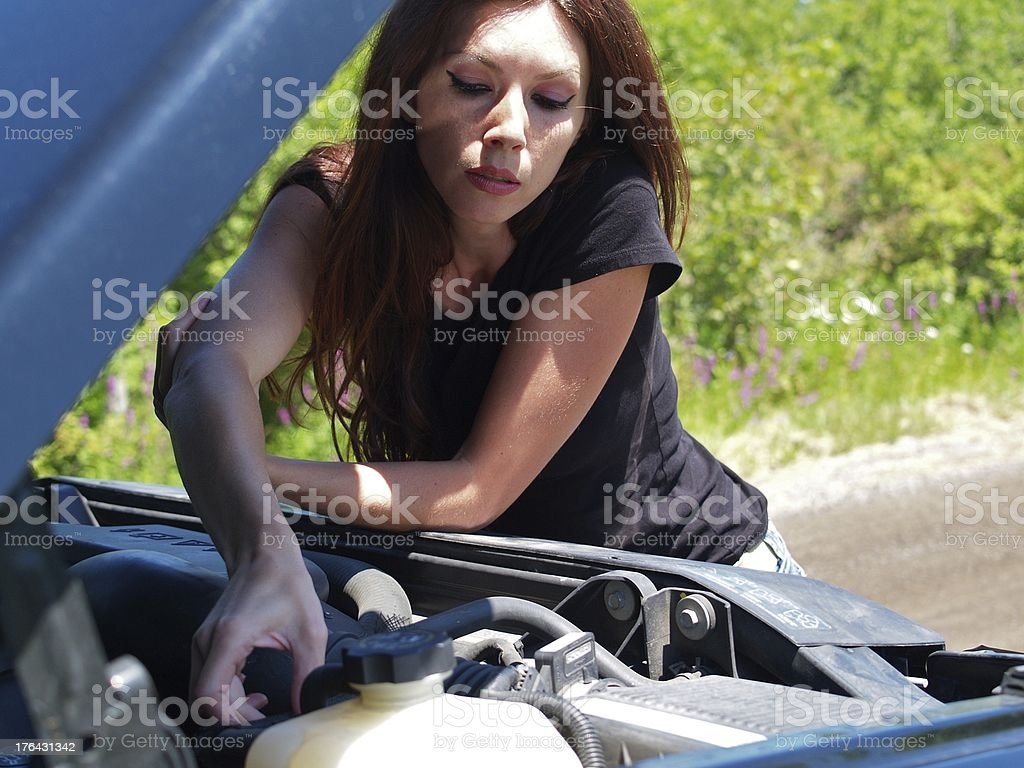 Woman Stranded royalty-free stock photo