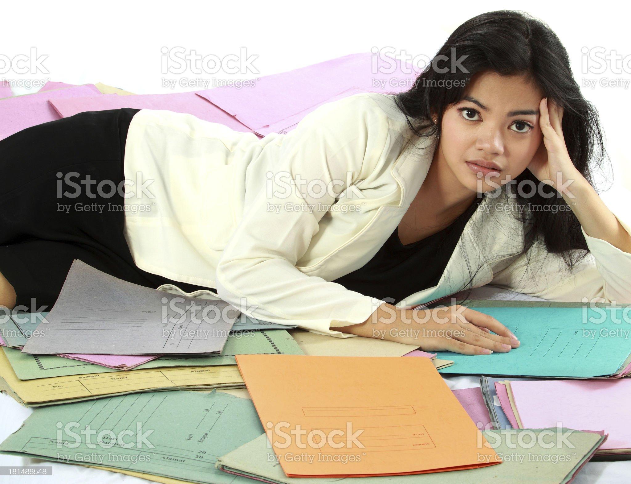 woman stress royalty-free stock photo
