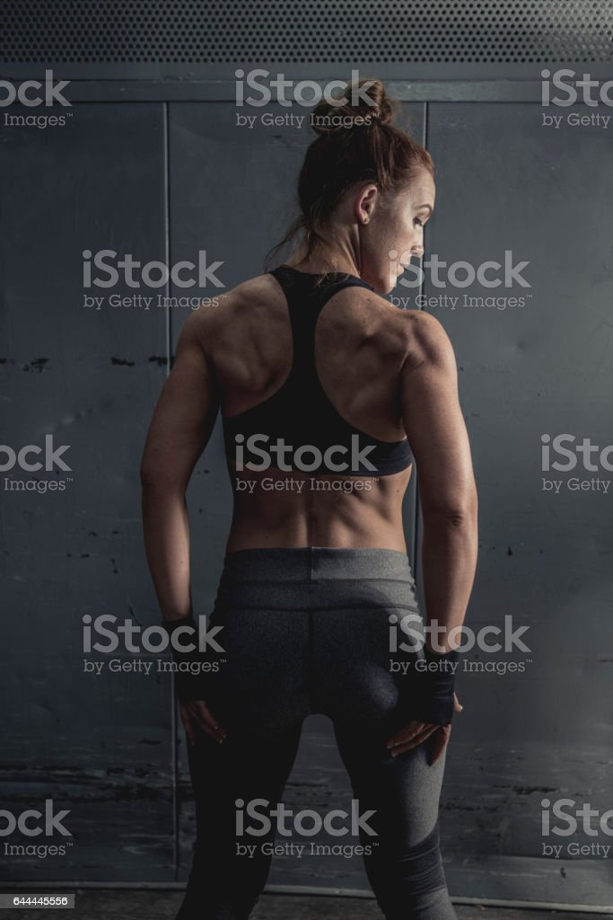 Woman Stretching stock photo