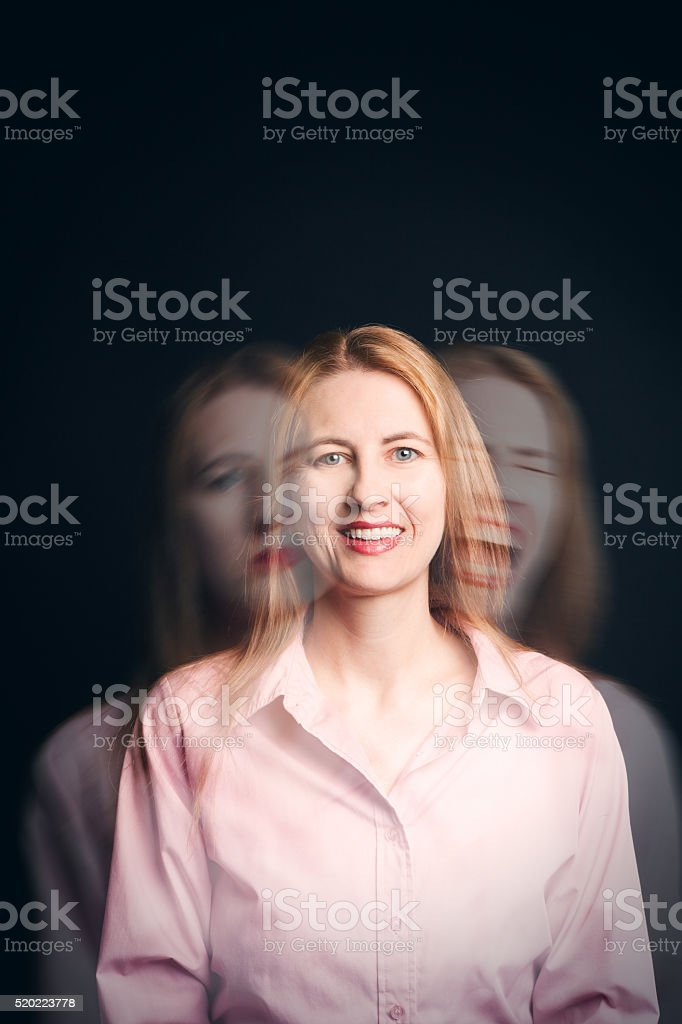 Woman Struggling With Emotions Concept stock photo