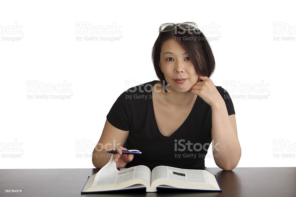 Woman Studying royalty-free stock photo