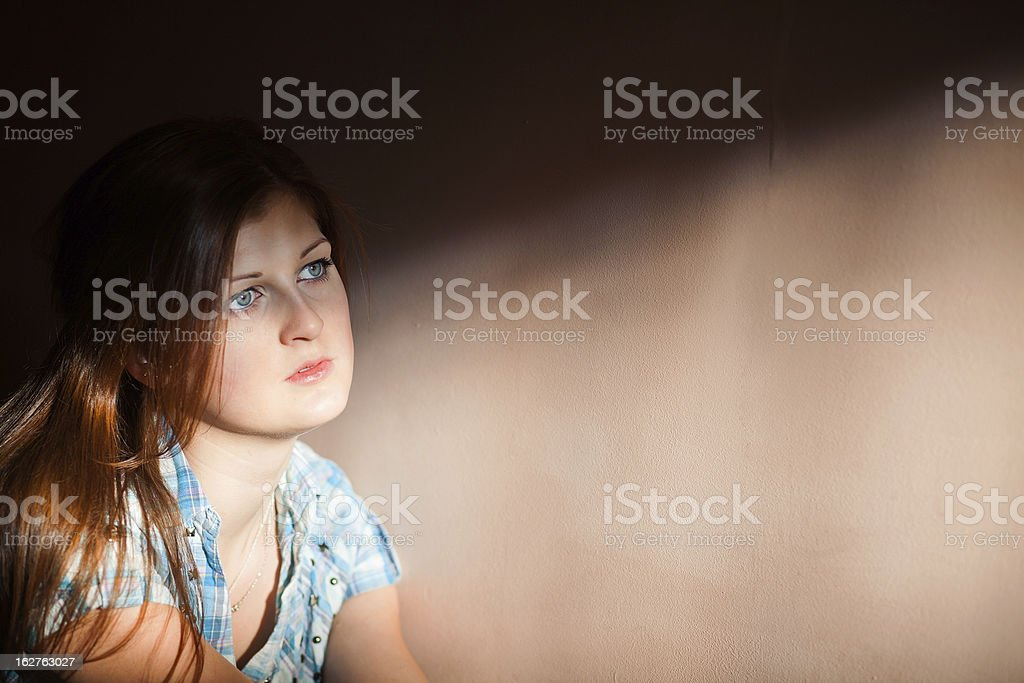 woman suffering from a severe depression royalty-free stock photo