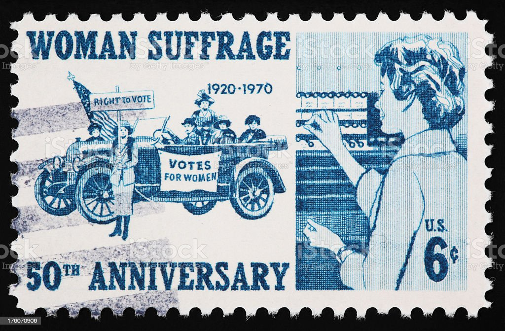 Woman Suffrage Stamp stock photo