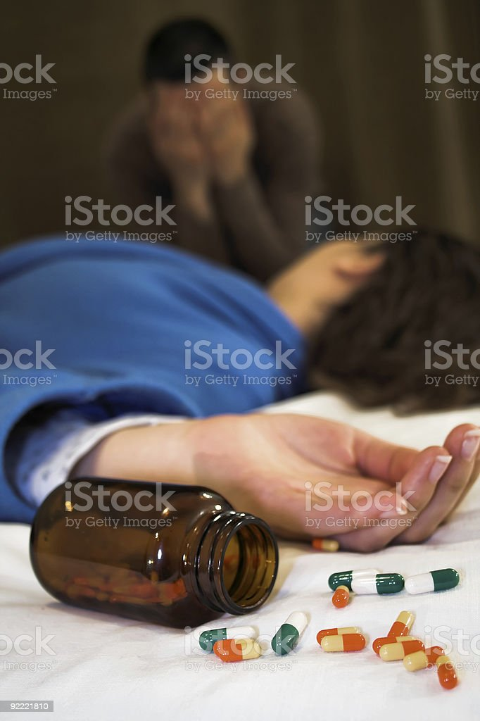 woman suicide - man crying royalty-free stock photo