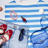 Woman summer clothes, beach outfit