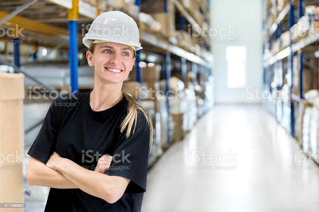 Woman supervisor at work stock photo