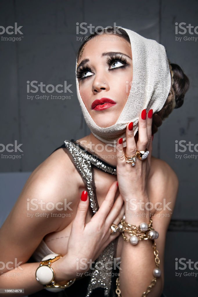 Woman surgery royalty-free stock photo