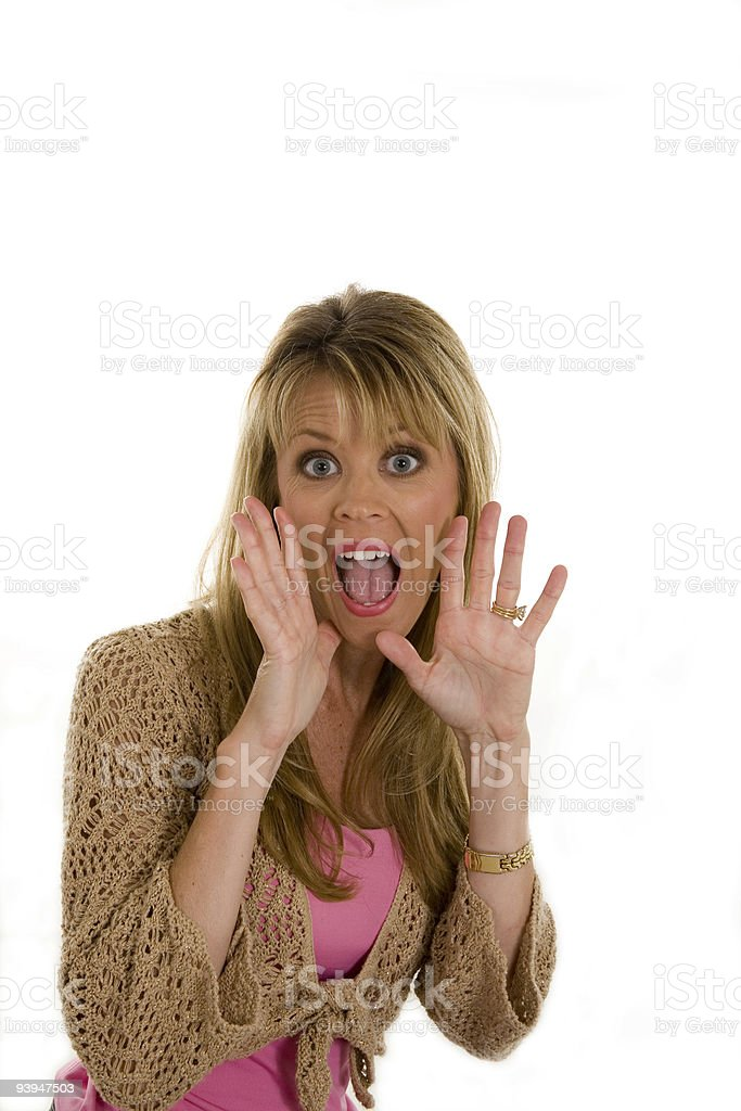Woman surprised royalty-free stock photo