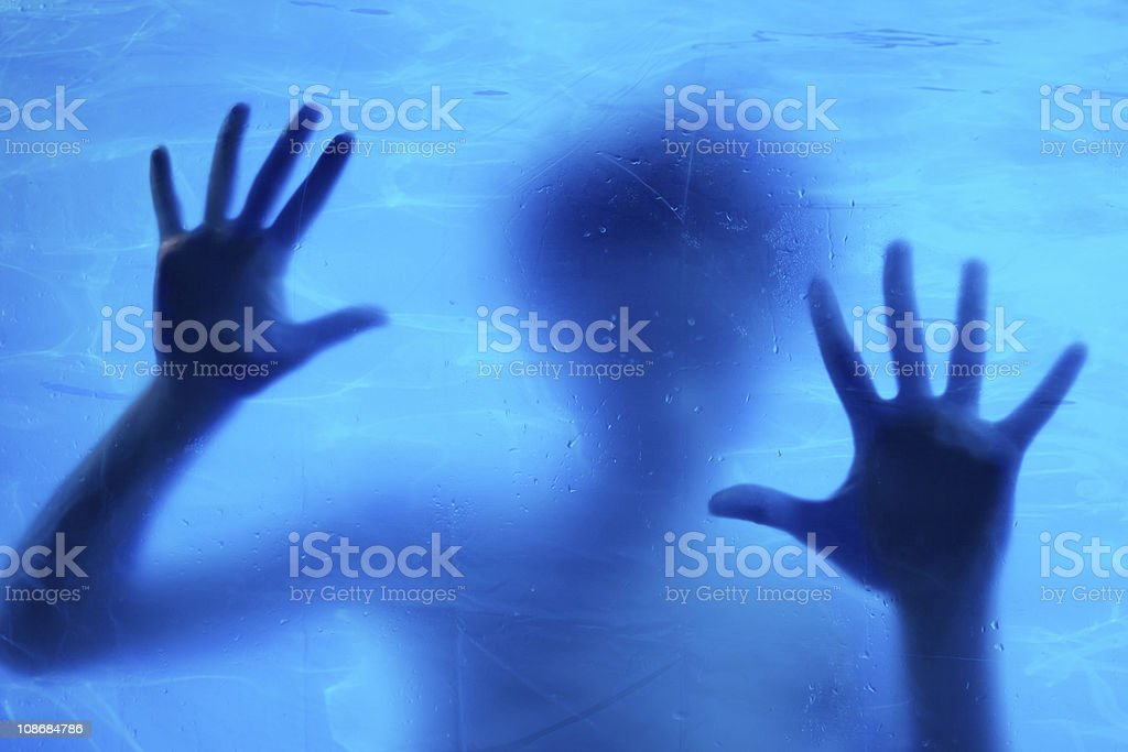 Woman swimming underwater royalty-free stock photo