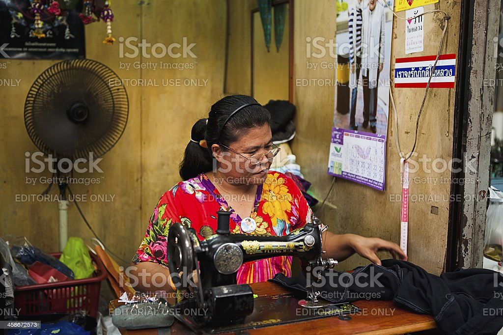 Woman tailor in Asia royalty-free stock photo