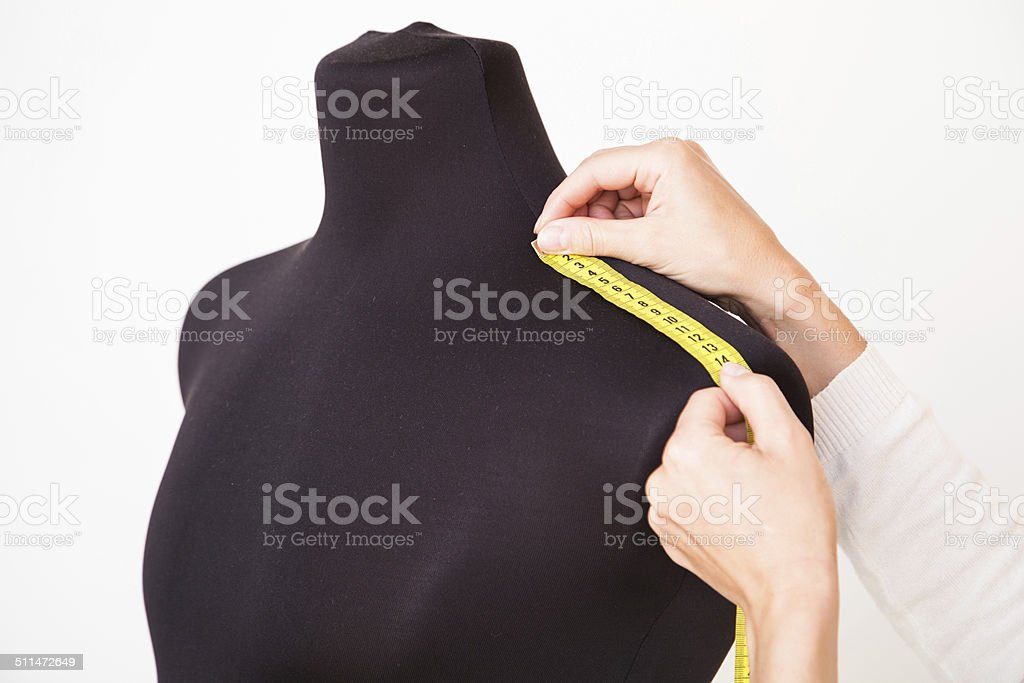 Woman tailor working stock photo