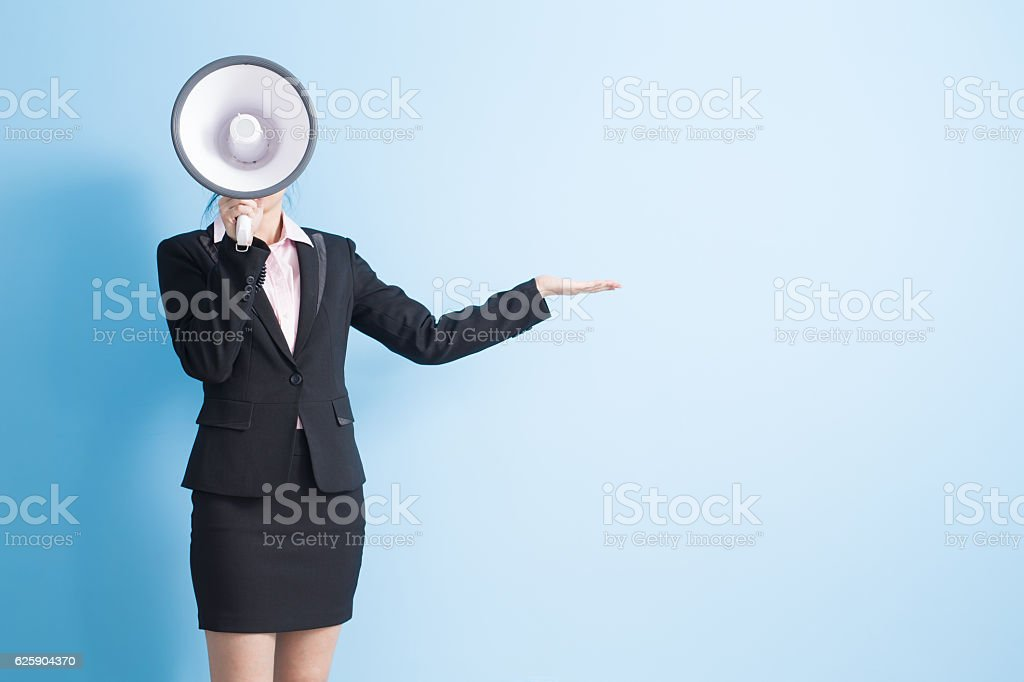 woman take microphone stock photo