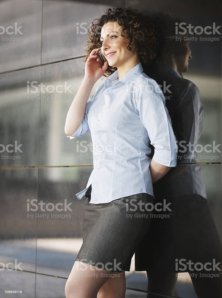 woman talking on the phone royalty-free stock photo