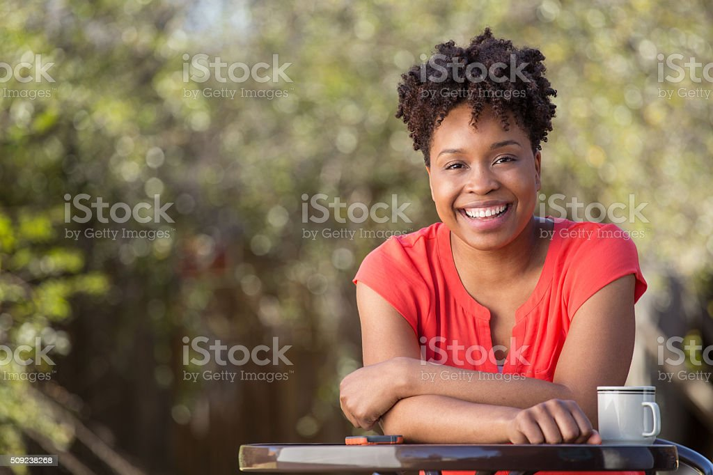 Woman Talking stock photo