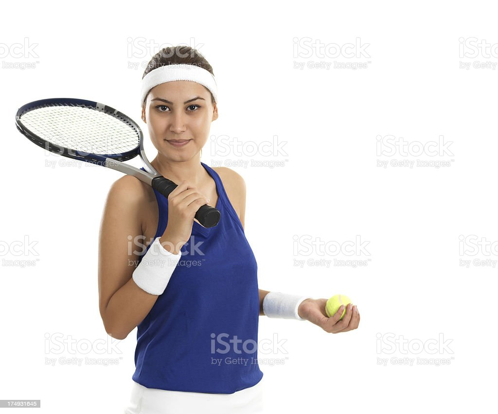 Woman Tennis Player royalty-free stock photo