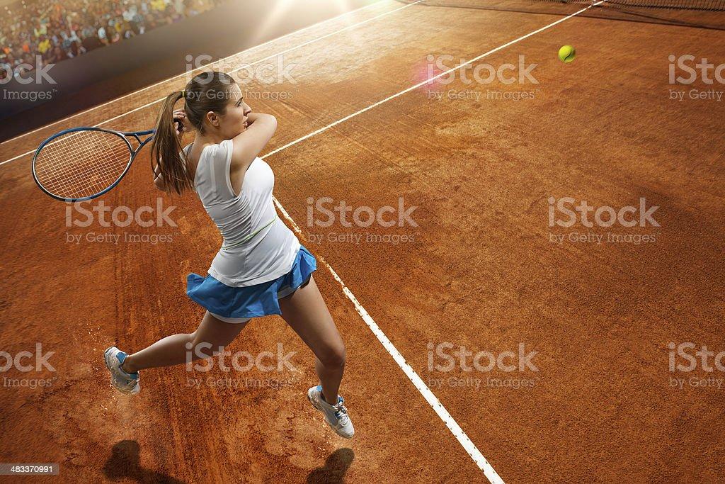 Woman Tennis Player royalty-free stock photo