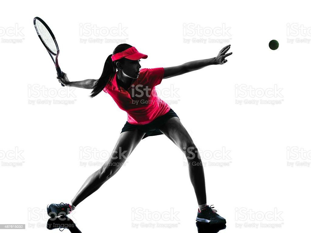 woman tennis player sadness silhouette stock photo