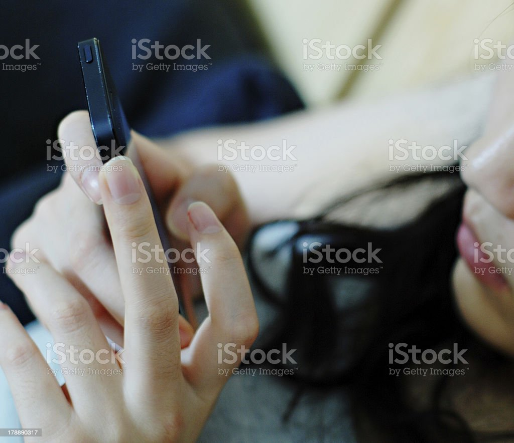woman text messaging royalty-free stock photo