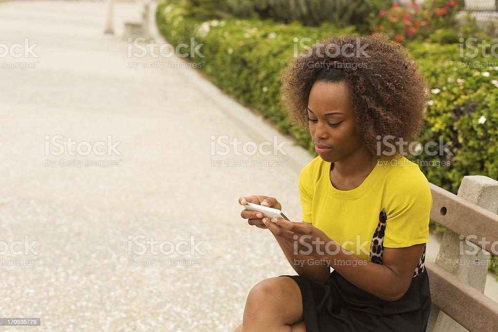 Woman Texting royalty-free stock photo