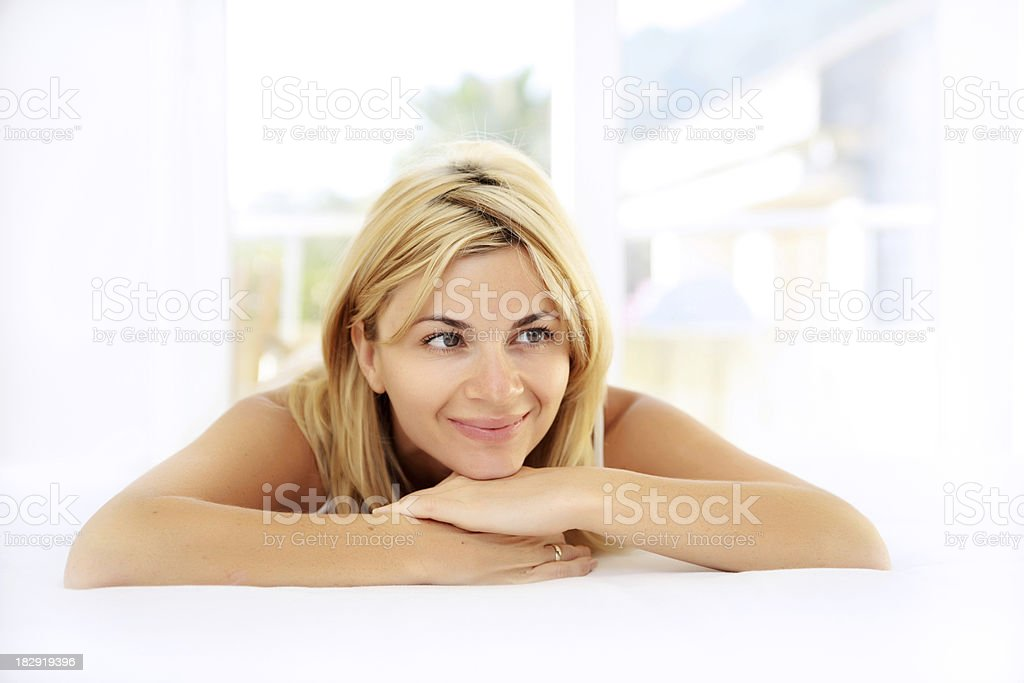 Woman thinking. royalty-free stock photo