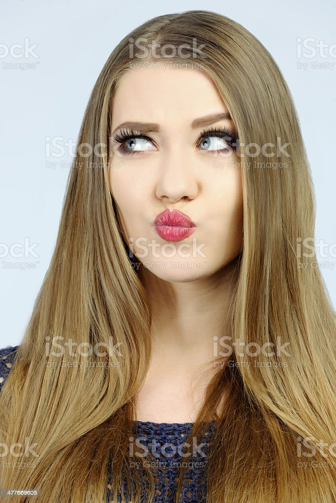 woman thinking royalty-free stock photo