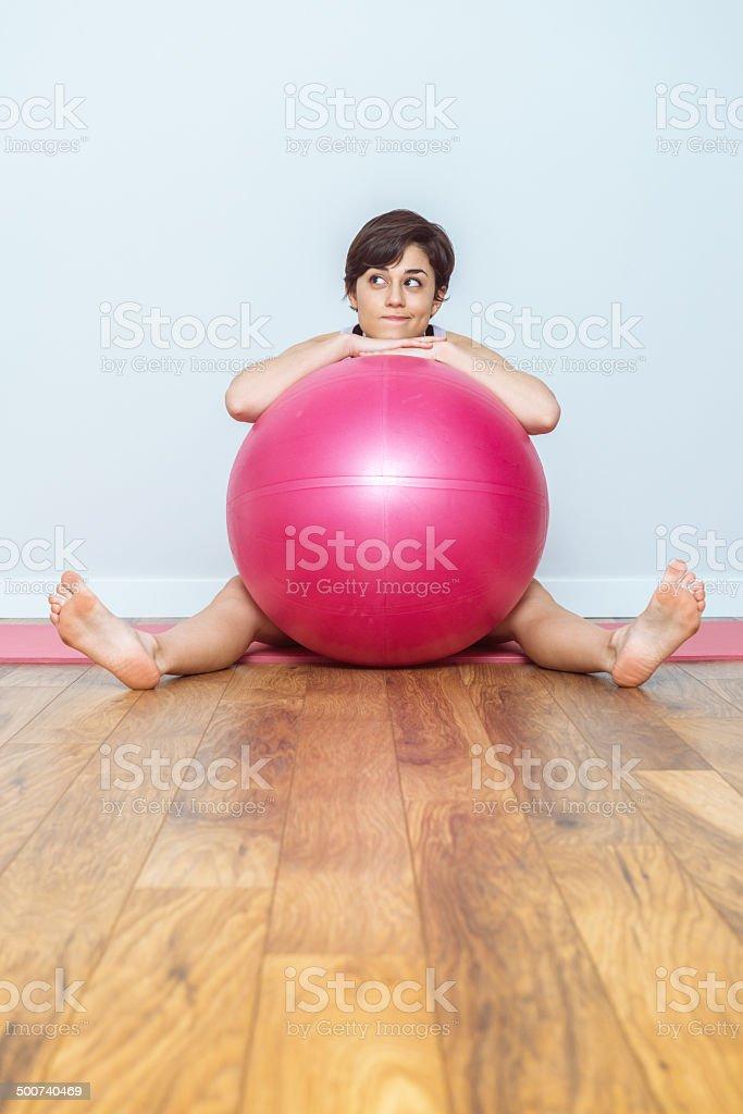Woman thinking yoga royalty-free stock photo