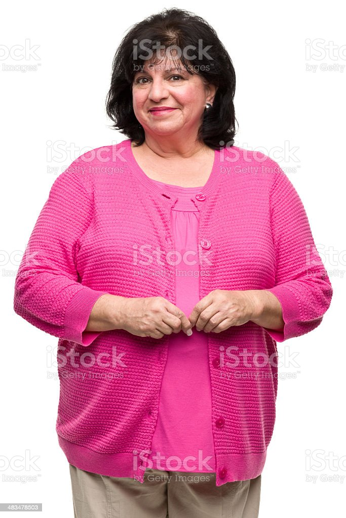 Woman Three Quarter Portrait stock photo