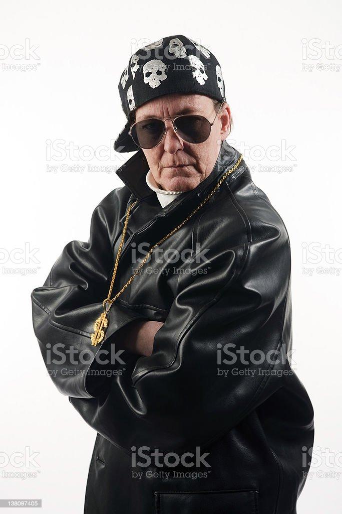 Woman - Tough Rapper royalty-free stock photo