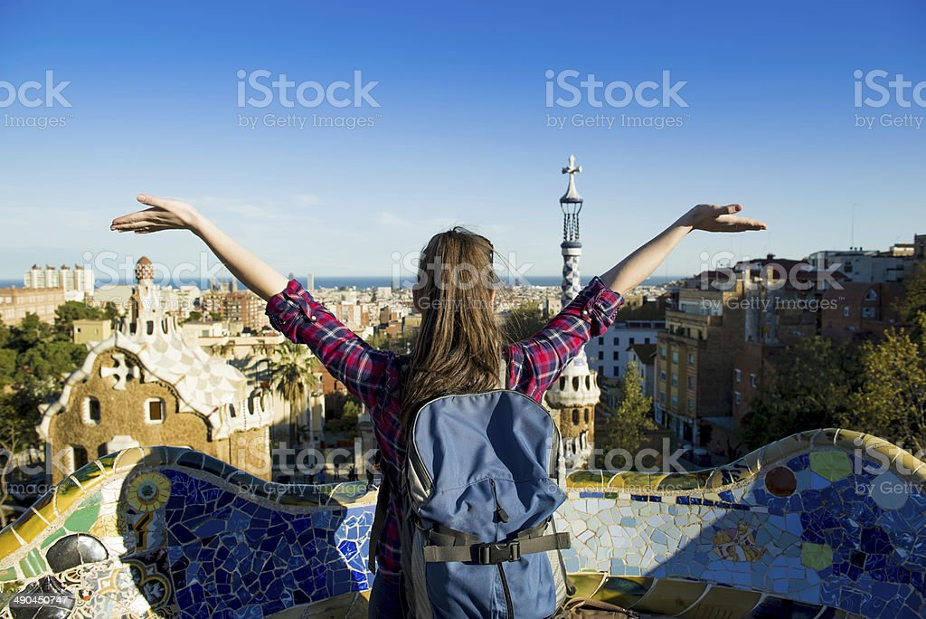 Woman tourist stock photo