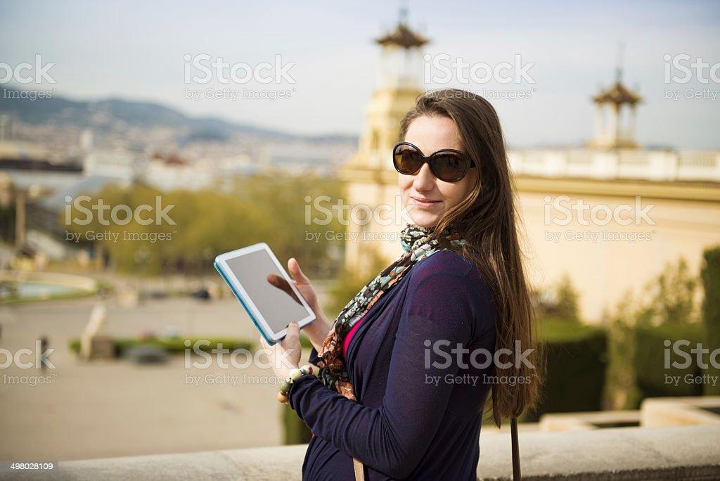 Woman tourist royalty-free stock photo