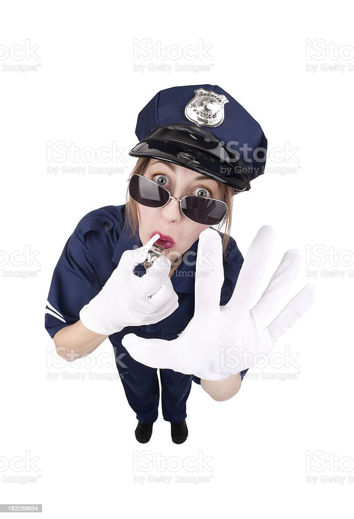 Woman Traffic Cop royalty-free stock photo