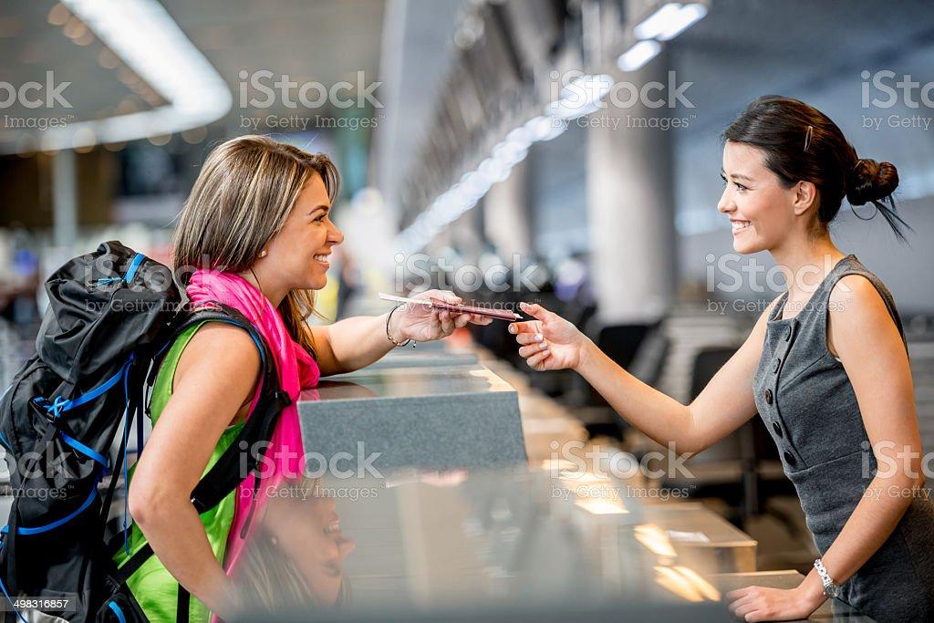 Woman traveling stock photo