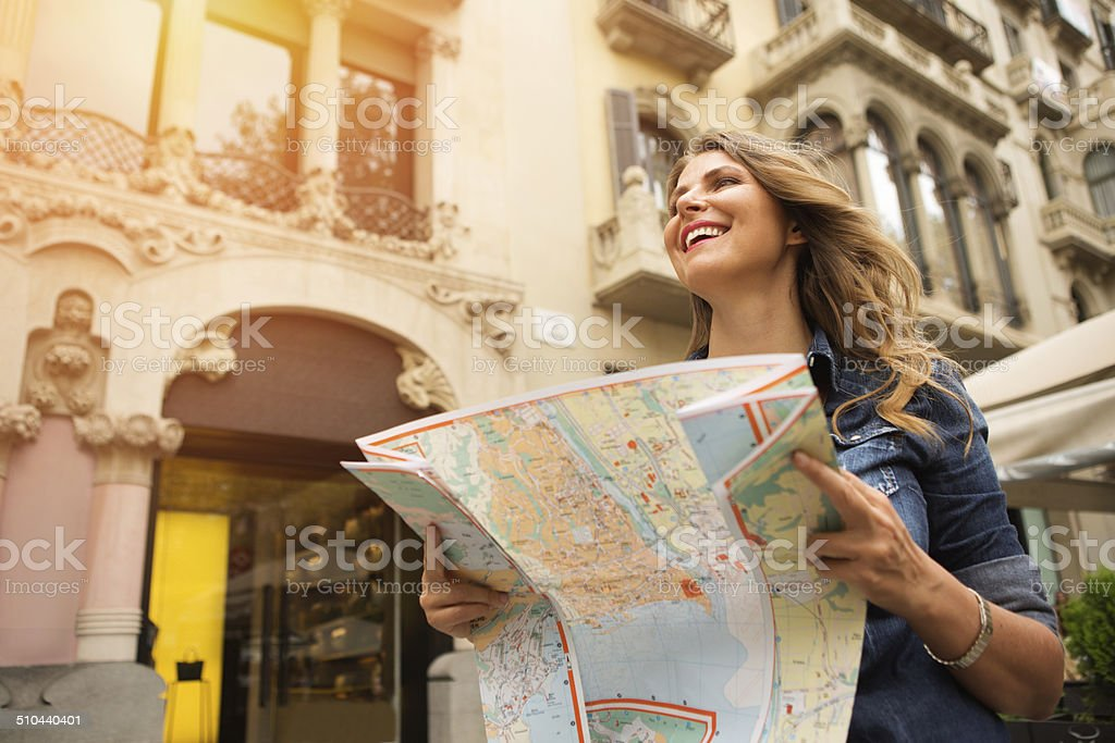 Woman traveling. stock photo