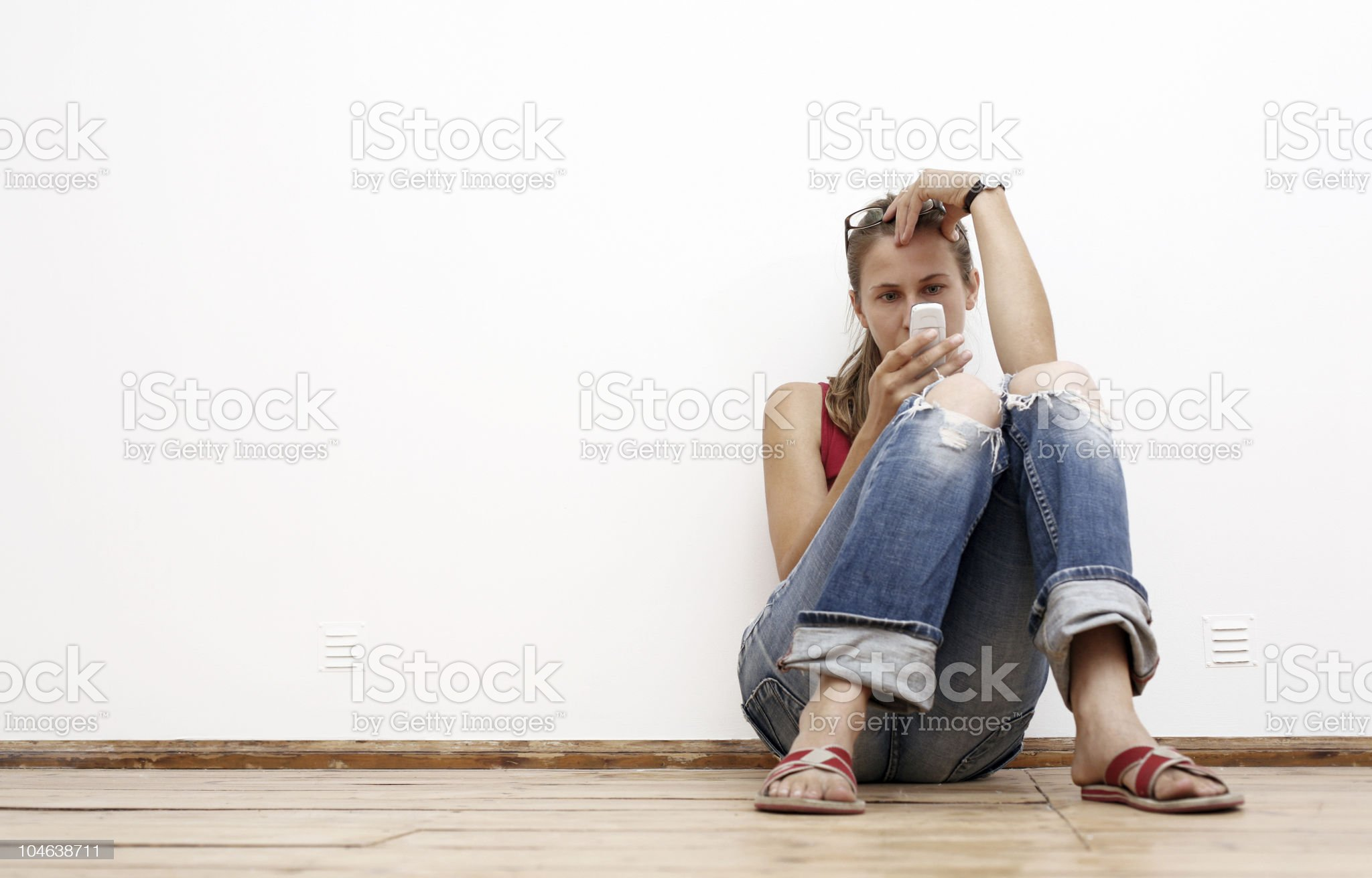 woman typing sms royalty-free stock photo