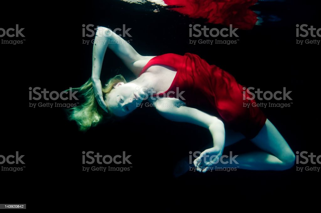 Woman Underwater royalty-free stock photo