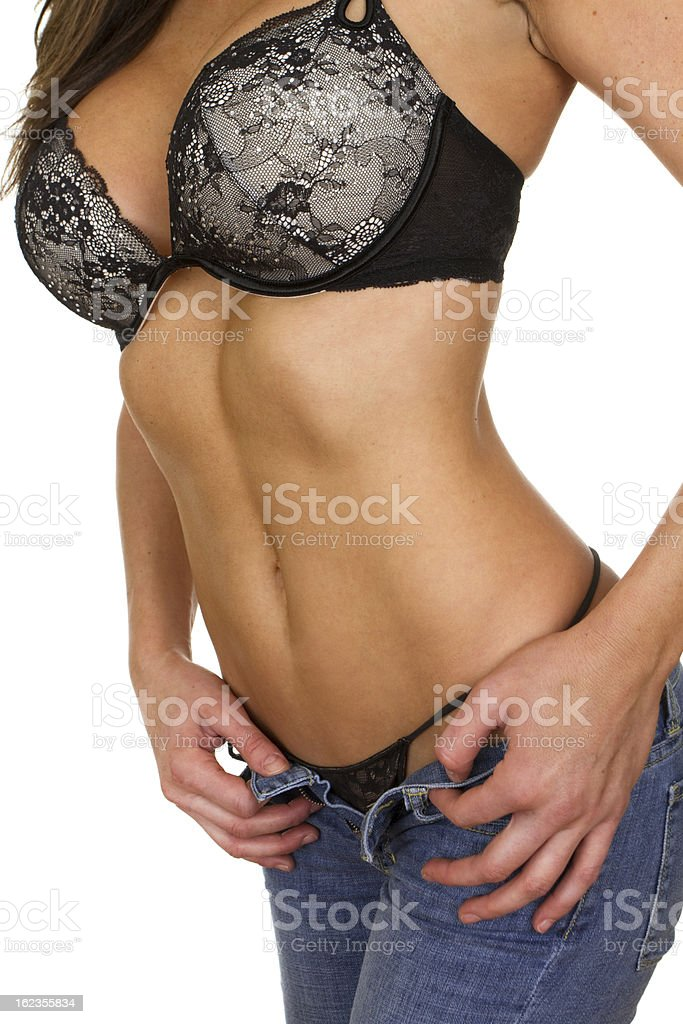 woman undressing royalty-free stock photo