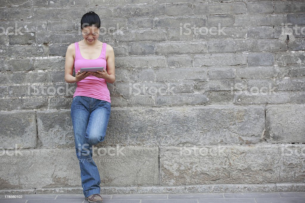 woman use tablet pc royalty-free stock photo