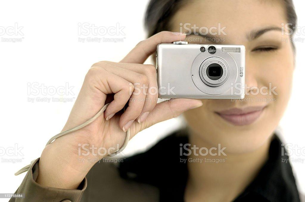 woman using a digital camera royalty-free stock photo