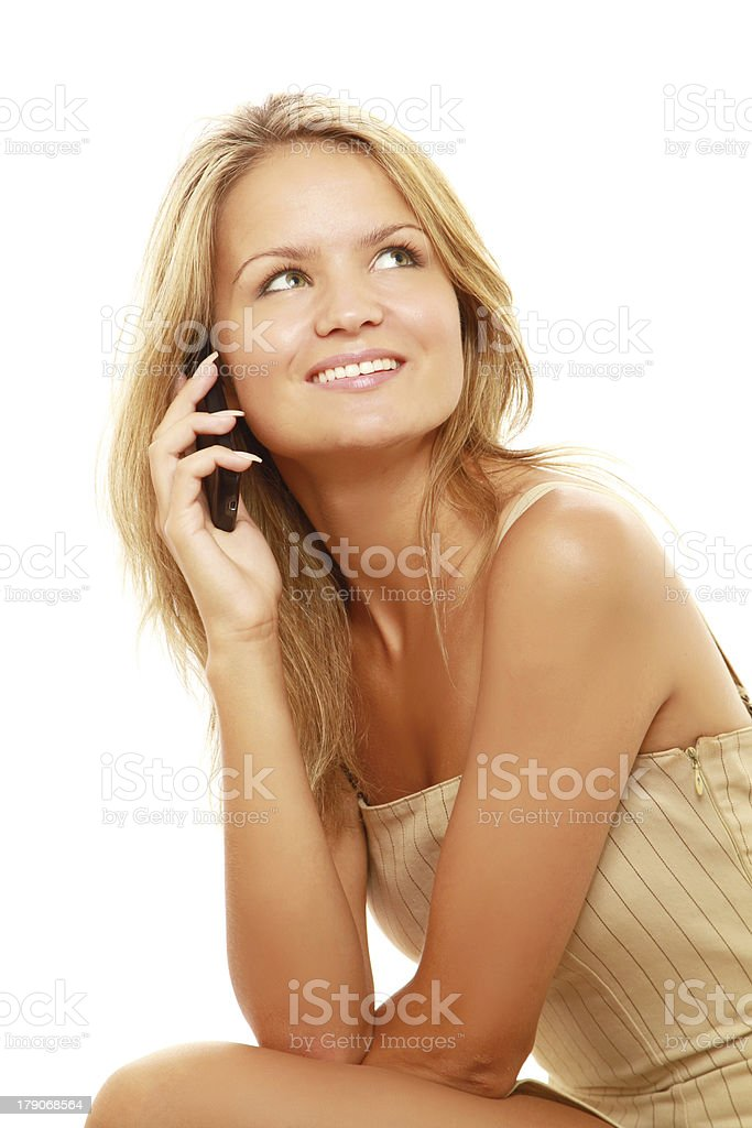 woman using cell phone royalty-free stock photo