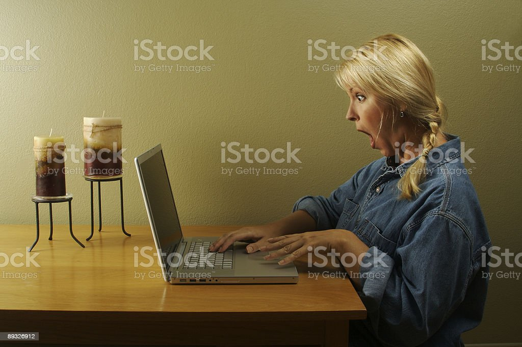 Woman Using Laptop Series royalty-free stock photo