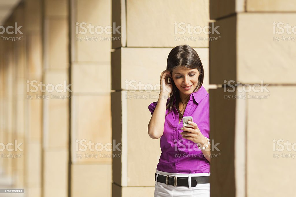 woman using mobile phone royalty-free stock photo