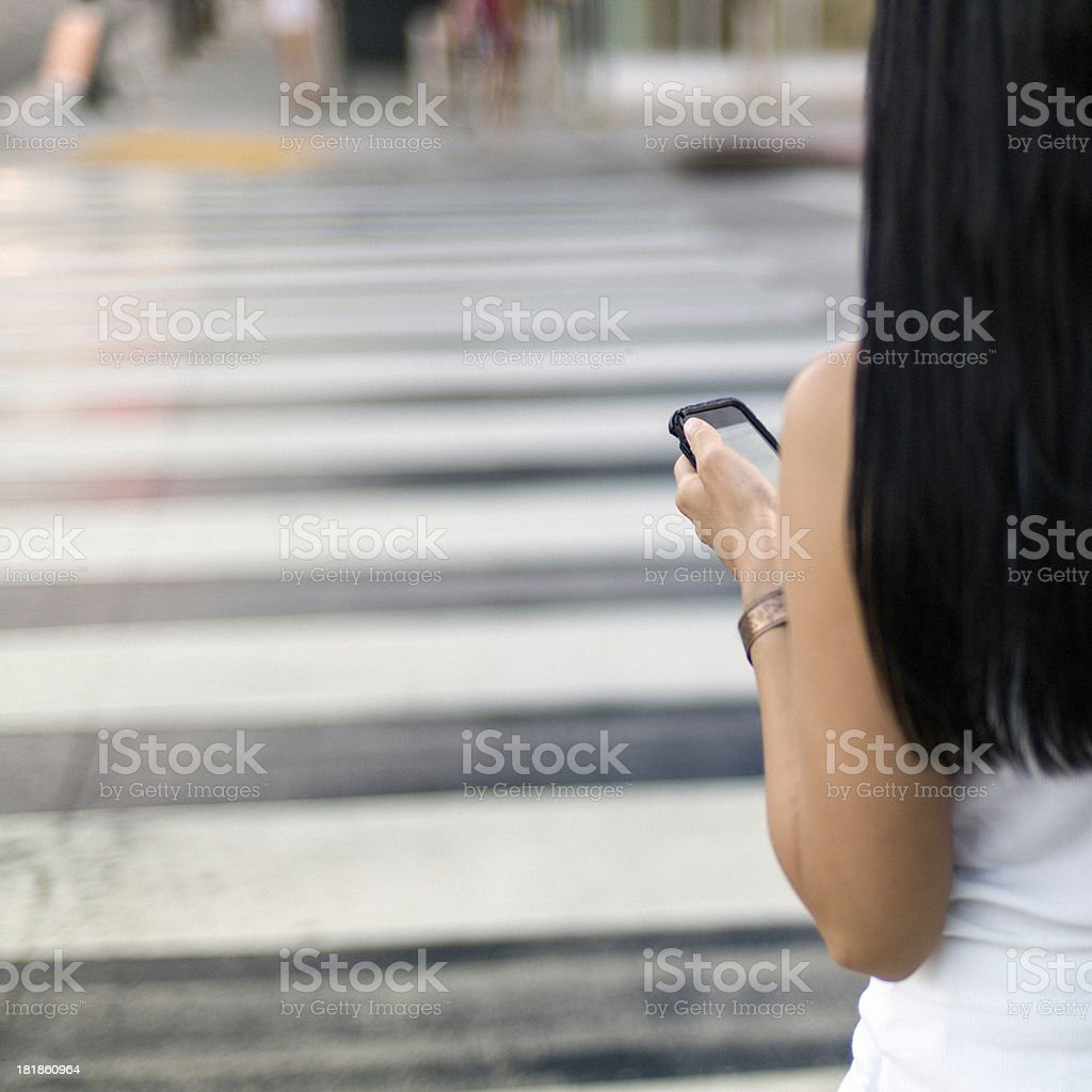 Woman using Smartphone royalty-free stock photo