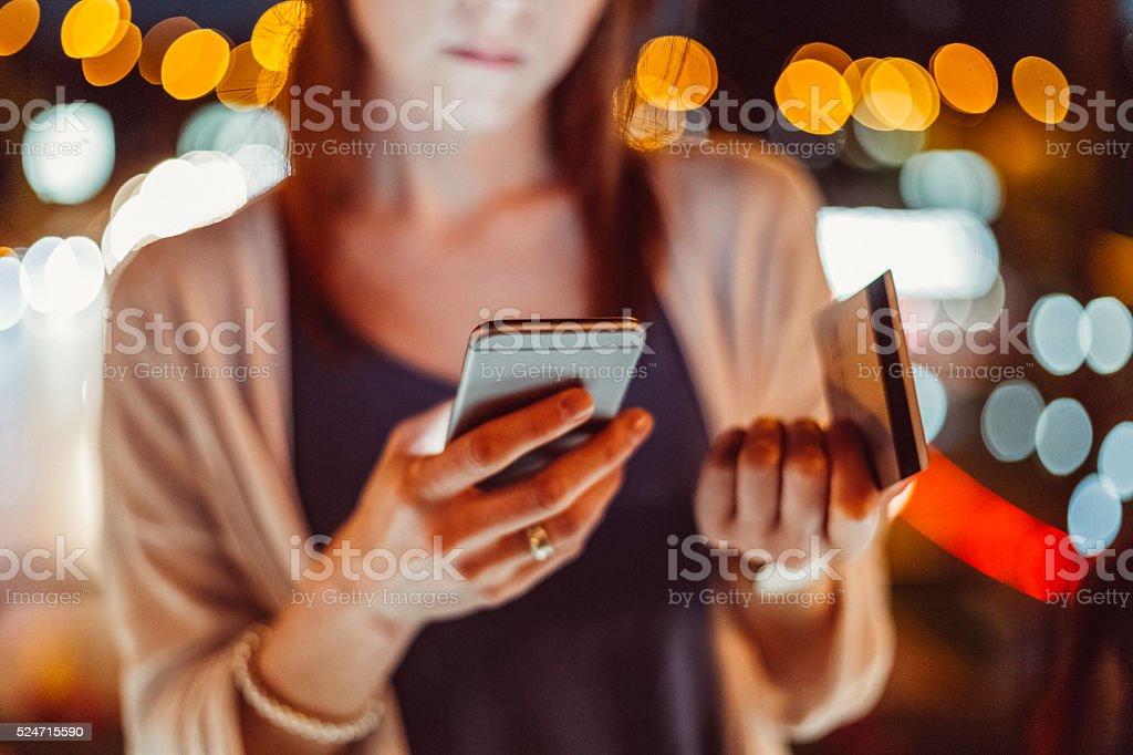 Woman victim of credit card fraud stock photo