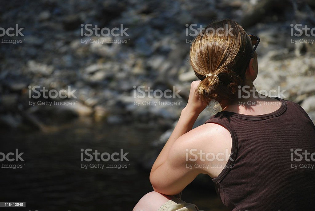 Contemplative Woman royalty-free stock photo
