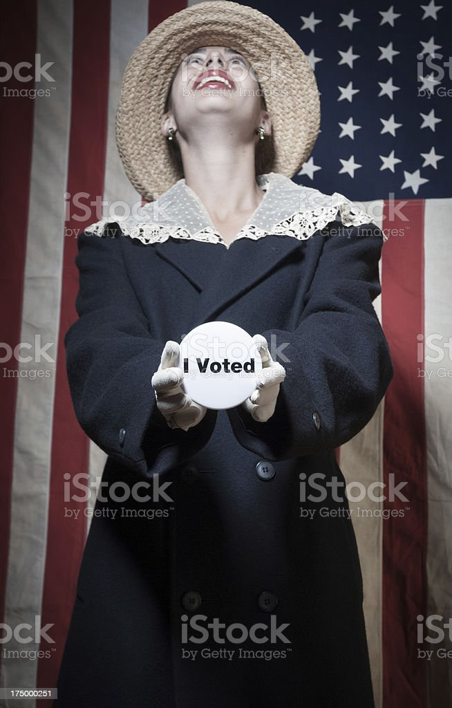 Woman voter stock photo