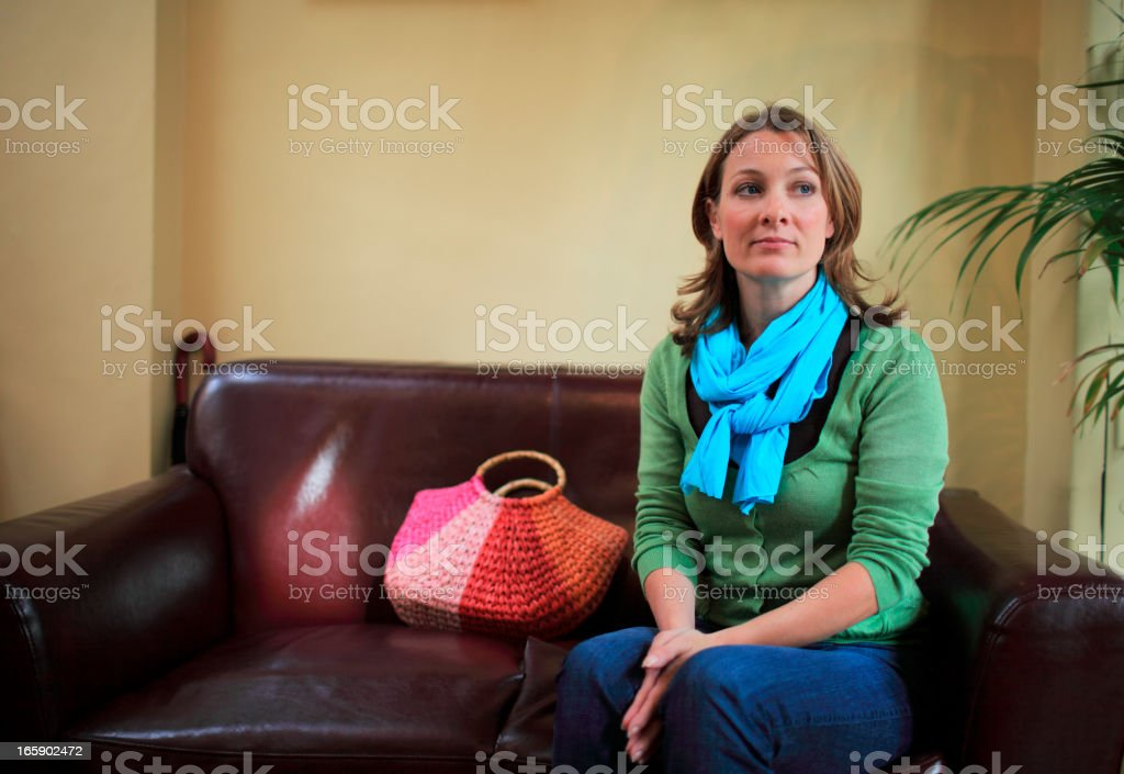 Woman waiting and hoping royalty-free stock photo