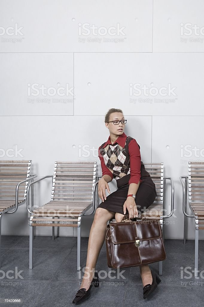 Woman waiting royalty-free stock photo
